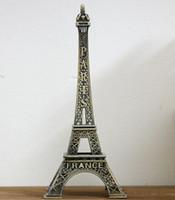 Wholesale Paris Ornament - 70 cm Paris Eiffel Tower bronze metal craft decoration model gift Home Furnishing wedding decor supplies