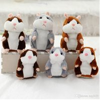 Wholesale Hamster Music - Touchcare 15CM Talking Hamster Mouse Pet Plush Toy Learn To Speak Electric Record Hamster Educational Children Stuffed Toys Gift333
