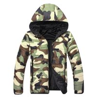 Wholesale Mens White Coat Sale - Fall-Free Shipping Hot Sale Men's Cotton Parksa Jackets Casual New Mens Puffer Jacket Man Camouflage Outwear Coats DL 60