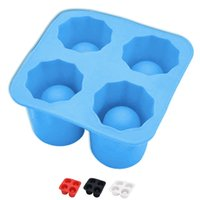 Wholesale Ice Shot Silicone - Durable Bar Drink Ice Cube Shot Glass Freeze Mold 4-Cup Shaped Free Shipping