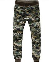 Wholesale Boys Cuffed Jeans - Camouflage Jogger jogging Pants Men Cuffed Twill Casual Hip Hop Camo Pants Hiphop Harem Pants Jeans Trousers Pantalones Male Boy