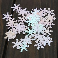 Wholesale Snowflakes Order - 50pcs lot Iridescent Snowflake Confetti Sequins Christmas for Frozen Crafts Color Vision order<$18no track