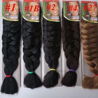 Wholesale xpression braiding hair wholesale online - Xpression jumbo braids Hair inch g single color Ultra Braid Premium Kanekalon Synthetic braiding hair extensions colors Optional