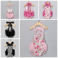 Wholesale wholesale onesie - Flower Baby Romper Girls Flowers Lace Romper 2015 summer new Princess Girls rose flower Lace romper baby onesie tutu free shipping in stock