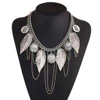 Wholesale Thai Pendants - Statement Necklaces Collier Femme Thai Silver Coins vintage jewelry for women Bohemian Tassel Pendant Colar Necklaces
