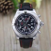 ss наручные часы оптовых-Высокое качество мужские механические черные циферблат часы мститель Skyland Edition SS мужские кожаные часы спортивные мужские наручные часы calsp