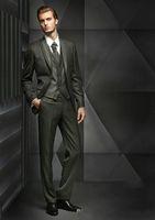 Wholesale Cheap Wool Pants - Cheap groom suit 2018 Groom Tuxedos Two Button wedding suits for men Best Man suit prom suits (Jacket+Pants+Tie+Vest)