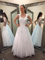 Wholesale Deb Dresses Line Sweetheart - 2015 Elegant White Deb Dresses A Line Sweetheart Straps Covered Buttons Back Lace Appliques Bodice Girls Special Occasion Dresses Prom Gowns