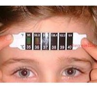 Wholesale Fashion Hot Child Kid Forehead Test Temperature Head Strip Thermometer Fever Body Baby DHL FEDEX UPS