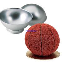 наборы для выпечки оптовых-Спортивный мяч режим набор создать 3D торт теннис корзина футбол олово губка Пан день рождения формы для выпечки Торт инструменты