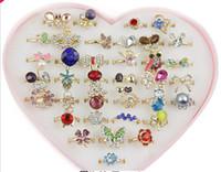 gemischte edelstein-steinringe großhandel-Exquisite mode edelstein diamant ring multi stile viele designs mischen auftrag schmuck Solitaire Ringe pack mit box 36 stücke