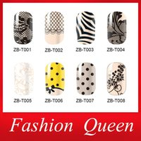 Wholesale Full 2d - Newest Nail Art Stickers,3sheets lot Adhesive Smooth Lace Design Full Wrap Nail Foil Patch,Manicure Nail Decoration Accessories