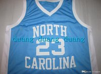 e2d95ff65 North Carolina  23 Jersey College Jordan Throwback Basketball Jersey blue  white Custom Size Name and number Stitched ...