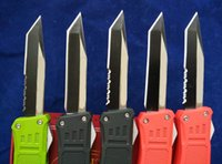 Wholesale Strider Small - Microtech 616 Combat troodon A161 small size Scarab Halo V 5 tactical knives Plain   Serrated Blade Aluminum Handles Tanto Point knives
