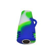 bestes trockenöl großhandel-Beste Qualität Colorfull Ölbrenner Rohr Silikon Pfeifen Tabakpfeifen Mini Handrohr Tragbare unzerbrechlich für Trockene Kraut