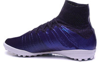 Wholesale Best Indoor Soccer Shoes - 2015 new best MercurialX Proximo IC Mens Boots Indoor Squadron men Soccer Shoes,High quality Training Sneakers,Discount cheap Football Shoes