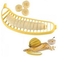 ayudante de cocina rebanador al por mayor-Slicer Banana Cortador Cortador Peeler Ensalada de Fruta Sundaes Cereales Fácil Herramientas de Cocina Gadget Helper envío gratis