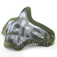 Wholesale Paintball Mesh Mask - Lower Half Face Metal Steel Net Mesh Masks Outdoor Hunting Tactical Masks CS Paintball Airsoft Protective Masks