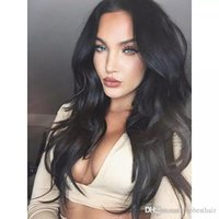Wholesale super human hair wigs for sale - Human Hair Wigs Wet And Wavy Virgin Super Wave Lace Front Wig Natural Hairline Glueless Full Lace Human Wigs For White Women