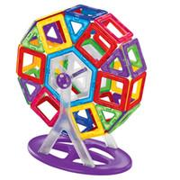 manyetik plastik blok toptan satış-36 adet / takım Benzer Manyetik Yapı Oyuncak Tuğla Parçaları Plastik Manyetik Yedek Toplu Manyetik Blokları