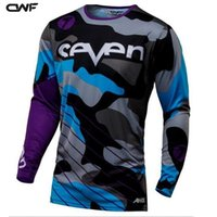 Wholesale Motorcycle Race Games - 2017 Seven Camouflage New Cross-country Motorcycle Clothing Game Cycling Jersey Bike Bike MX Ze Mountain Bike DH MTB Shirt