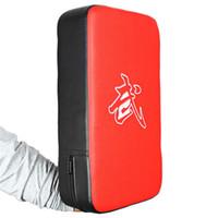 odak ped eğitim toptan satış-Yeni Pu Deri Boks Boks Pad Dikdörtgen Odak Mma Kicking Strike Güç Yumruk Kung-Nu Dövüş sanatları Eğitim Ekipmanları