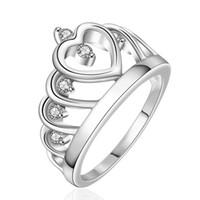 freimaurer modeschmuck großhandel-Ring für Frauen Hochzeit China Wholes Diamant Verlobungsringe Mode Modeschmuck 925 Sterling Silber Frauen Masonic Crown Silber Ringe