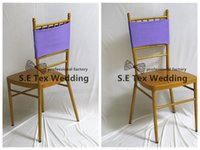 spandex de lavanda al por mayor-Banda de la silla de Lycra Spandex color lavanda \ Faja de la silla para la decoración de la silla de Chiavari en amarillo