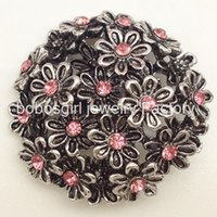Wholesale Oem Suppliers - M1138 Flowers snap button metal snap jewelry for bracelet OEM, ODM noosa jewelry making supplier