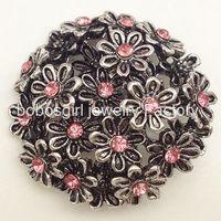 ingrosso bottoni di fiore a scatto in metallo-M1138 gioielli snap snap metallo pulsante per braccialetto OEM, ODM noosa creazione di gioielli fornitore