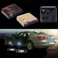 led emblèmes de voiture laser achat en gros de-Sans fil pour Chevrolet logo mené Emblème de bienvenue de porte de voiture Lumières Aucun type de perceuse Insigne Lumières Projecteur de fantôme de laser