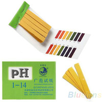 Wholesale Litmus Paper Test Strips - 80 Strips Full Range pH Alkaline Acid 1-14 Test Paper Water Litmus Testing Kit 098I