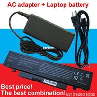 Wholesale N145 Battery - Free shipping- 1pcs AC Adapter+1pcs laptop battery For Samsung N210 NB30 X420 N220 X520 N145 NP-Q330-JS05RU NP-X418 N230-Storm AA-PB1VC6W