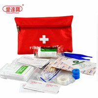 Wholesale Home Medical - Waterproof Mini Outdoor Travel Car First Aid kit Home Small Medical Box Emergency Survival kit Household