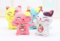 Wholesale 10 pieces small plush cat toys plush cute Plutus cat toy lucky cat dolls gift about cm