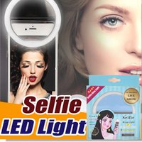 Portátil Universal Selfie Ring Flash Lamp Teléfono móvil LED de luz de relleno Selfie Ring Flash Lighting Camera Photography para Smartphone iPhone 8