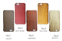 Wholesale Iphone Battery Case Pcs - vintage retro For iphone6 case PC case iphone 6 plus imitation wood grain protective sleeve slim phone promotion
