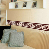 diy wall border achat en gros de-Border Wall Sticker Liner Décor peint DIY Décoration Vérifiez Art Mural Wallpaper Décor Living Room Decoration