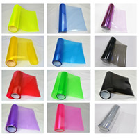 Wholesale Tinted For Car - 0.3x10m(1x33ft) quality PVC filme farol headlight tint for car headlight & taillight fog light 12 colors DHL free shipping
