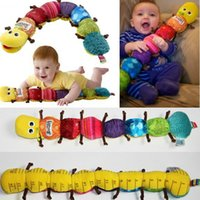 Wholesale Musical Inchworm Plush Soft Toys - New Popular Multifunction Colorful Musical toys Inchworm Soft Lovely Developmental Baby Toy toys hobbies