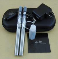 Wholesale Ego Double Stems - eGo-CE4 Electronic Cigarettes Kits 1.6ml Dual Stem E Cig 420mA Battery Double Starter Kits CE4 Ego Vaporizer Atomizers DHL 10pcs