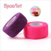 Wholesale Nail Flex Wrap - Self Adhesive Flex protection Wrap Finger Bandage Nail Art File Tape Makeup Flex Wrap Finger Bandage File Tape Nail Tool Gift