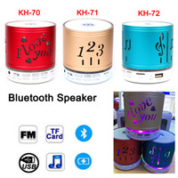 Wholesale Radio Days - Valentine's Day Gift KH-70 Bluetooth Mini Portable Speaker with LED Light Mic Handsfree Subwoofer TF U Disck FM Radio MP3 Player KH-71 72