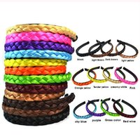 Wholesale Hair Band For Wigs - Korean version of the wig band head buckle twist braids hair for girls color hoop headband Green
