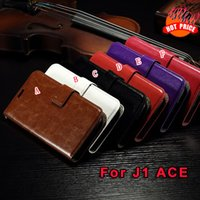 Wholesale A5 Photo Frames - Retro Crazy Horse Oil Wallet Leather Case Stand Photo Frame For Samsung Galaxy J1 ACE J110 2018 A5 A7 Oneplus 5T Purse Phone Cover luxury