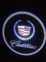 Wholesale Door Step Led - Cadillac symbol 1 Pcs of CREE 3W LED wired car door step logo shadow welcome projector lights
