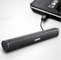 barra de som do laptop venda por atacado-FRETE GRÁTIS IKANOO USB PORTÁTIL SOUND BAR SPEAKER MINI COMPUTADOR SOUNDBAR ORADOR HIFI E SOM PODEROSO SUPER BASS