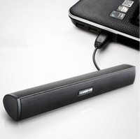 Wholesale Powerful Portable Speakers - FREE SHIPPING IKANOO USB LAPTOP PORTABLE SOUND BAR SPEAKER MINI COMPUTER SOUNDBAR SPEAKER HIFI AND POWERFUL SOUND SUPER BASS