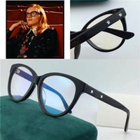 Wholesale Framed Floral Prints - New best selling fashion optical glasses cat eye plate frame legs with stars diamond Popular generous style transparent lens frame02110A