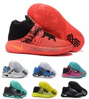Wholesale Rubber Dye - New 2016 Kyrie Irving Men Basketball Shoes Kyrie 2 Bright Crimson Tie Dye BHM All Star Basketball Sneakers With High Quality For Sale